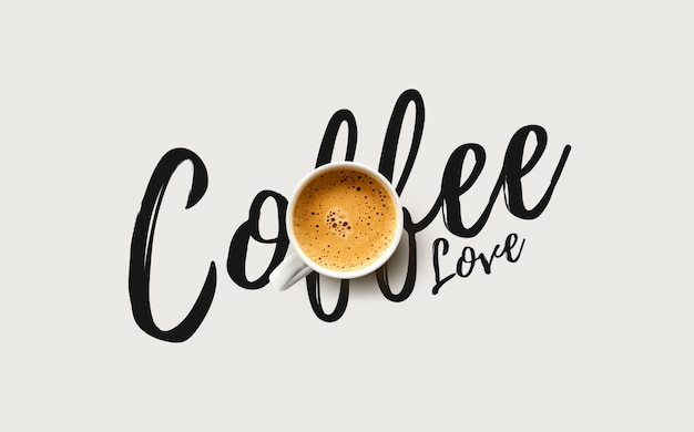 Kopje koffie op witte achtergrond Premium Foto