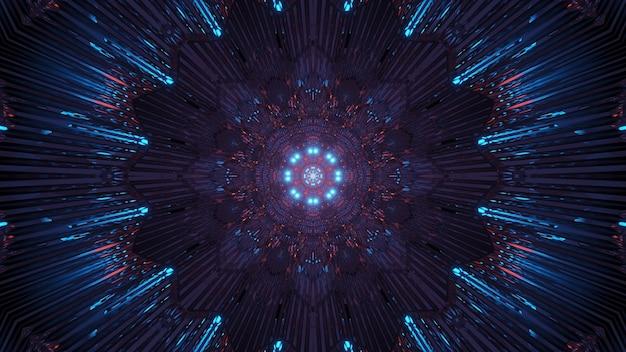 Kosmische achtergrond met kleurrijke laserlichten Gratis Foto