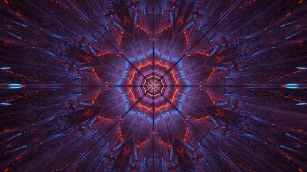 Kosmische achtergrond van paars-blauwe en rode laserlichten - perfect voor een digitaal behang Gratis Foto