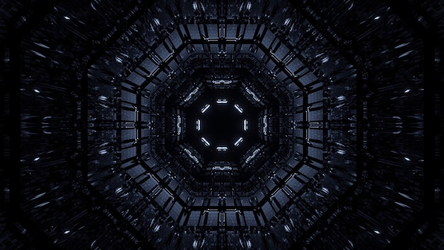 Kosmische achtergrond van witte en zwarte laserlichten Gratis Foto