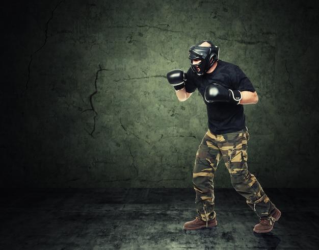 Krav maga-jager Premium Foto