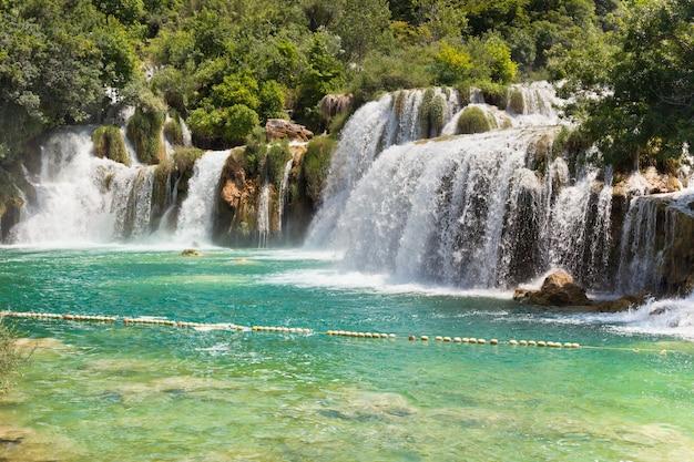 Krka watervallen, kroatië Premium Foto
