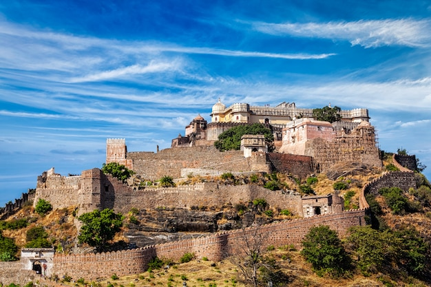 Kumbhalgarh fort, india Premium Foto