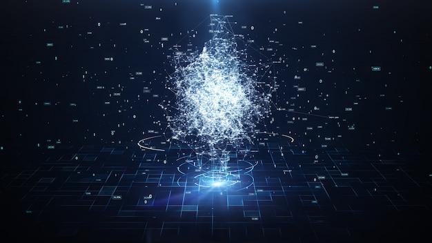 Kunstmatige intelligentie brain animation Premium Foto