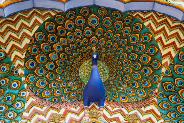 Kunstwerken in city palace. jaipur, rajasthan, india Premium Foto