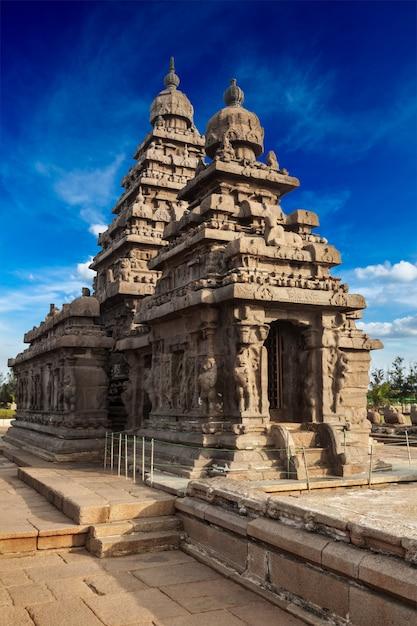 Kusttempel in mahabalipuram, tamil nad Premium Foto