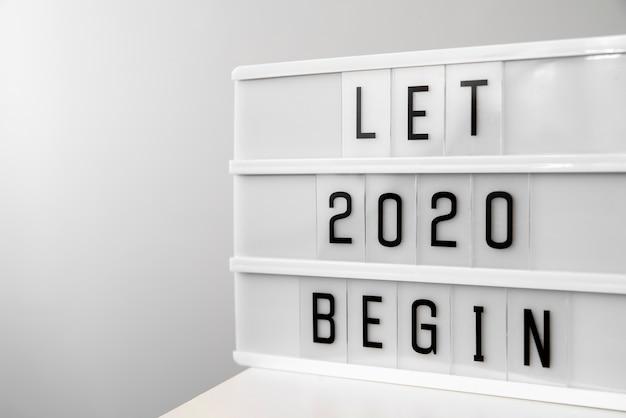 Laat 2020 nieuwjaar cijfers beginnen Gratis Foto