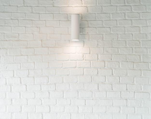 Lamp op witte muur Gratis Foto