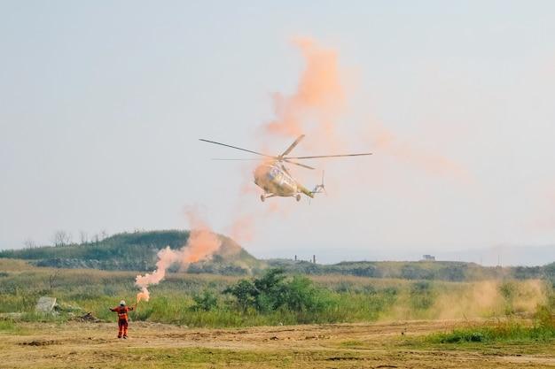 Landingssignalen voor helikopters Premium Foto