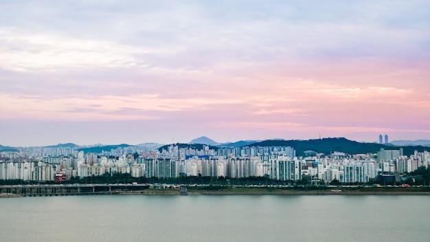 Landschap van seoul city Premium Foto