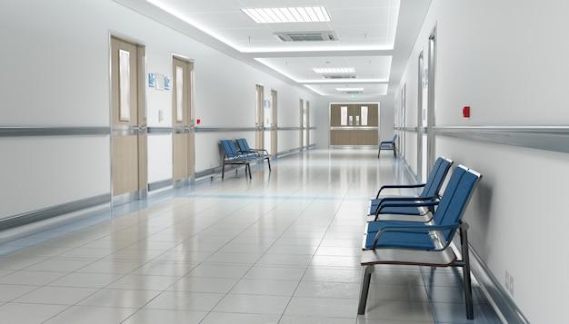 Lange ziekenhuisgang Premium Foto