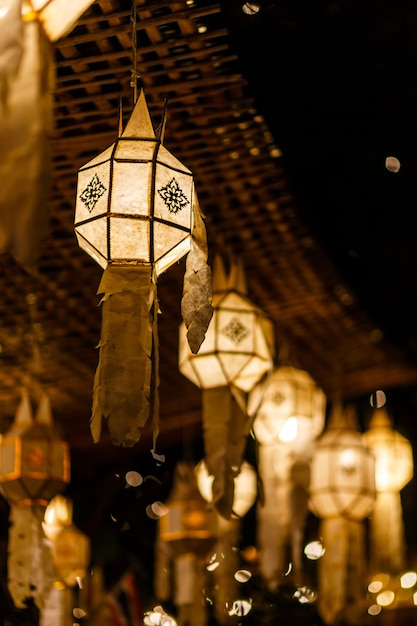 Lantaarns in chiang mai, thailand Premium Foto