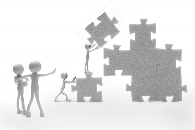 Lappenpop het bouwen van een puzzel Gratis Foto