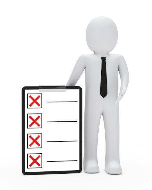 Lappenpop met een checklist Gratis Foto