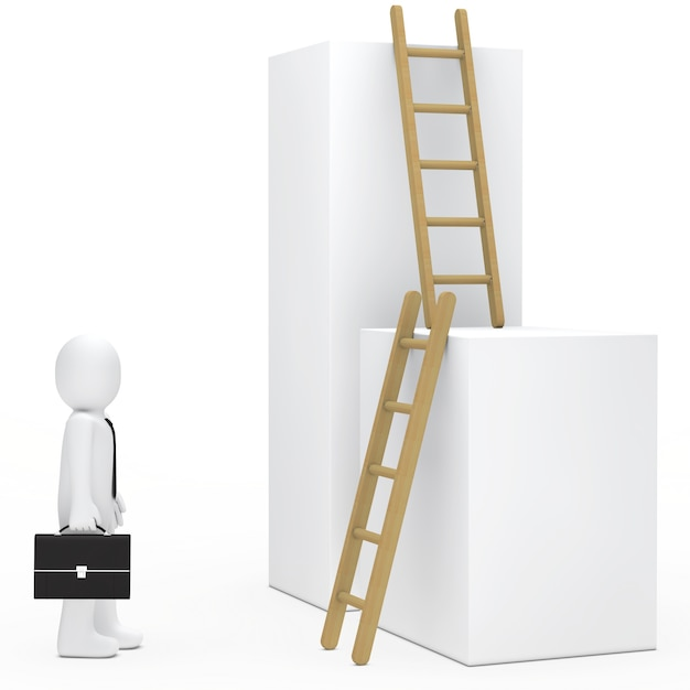 Lappenpop op zoek ladders Gratis Foto