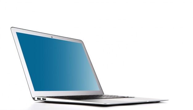 Laptop op een witte achtergrond Gratis Foto