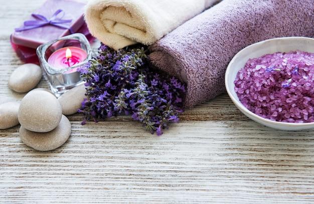 Lavendel spa concept Premium Foto