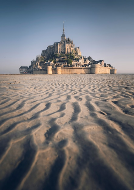 Le mont-saint-michel in normandië, frankrijk Gratis Foto