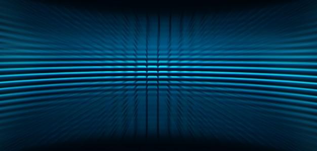Led-blauw bioscoopscherm voor filmpresentatie. Premium Foto
