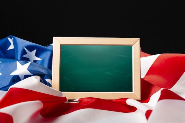 Leeg frame onmerikaanse vlag Premium Foto