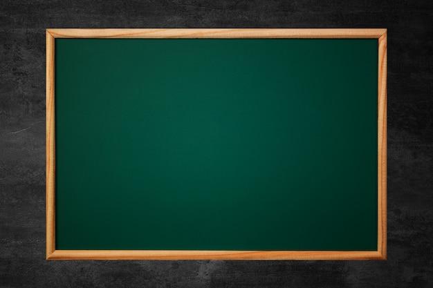 Leeg groen bord of schoolbord Premium Foto