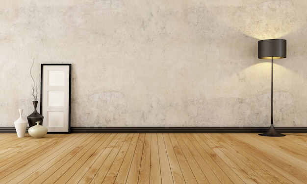 Leeg grunge interieur Premium Foto