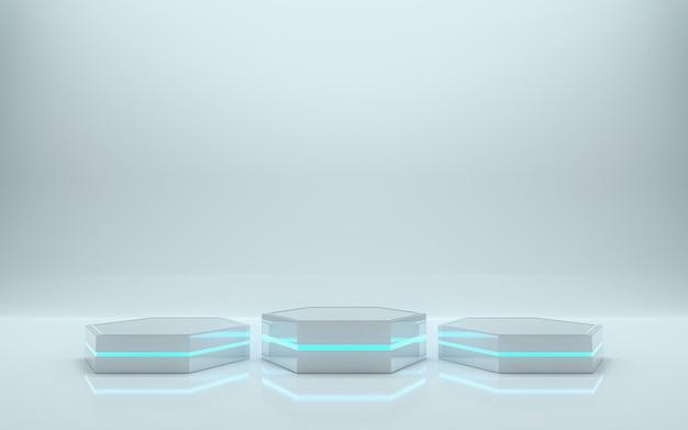 Leeg podium voor product. 3d-rendering - illustratie Premium Foto