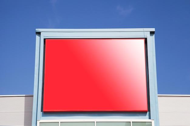 Leeg reclameaanplakbord voor openlucht reclamevot omhoog spot Gratis Foto