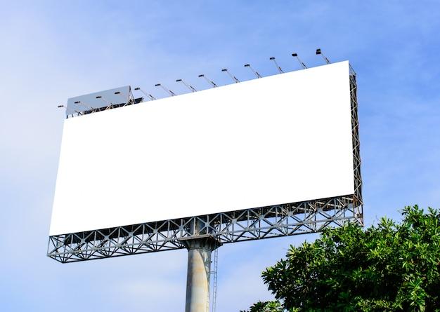 Leeg reclamebord voor nieuwe advertentie Premium Foto
