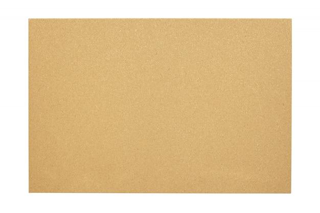 Lege cork raad met een houten frame dat op witte achtergrond wordt geïsoleerd Premium Foto