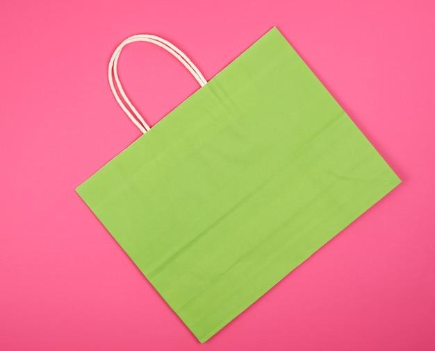 Lege groenboek boodschappentas met een handvat Premium Foto