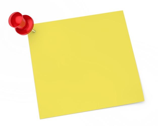 Lege nota met een punaise Gratis Foto