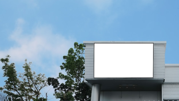 Lege reclame billboard lcd-advertentie Premium Foto