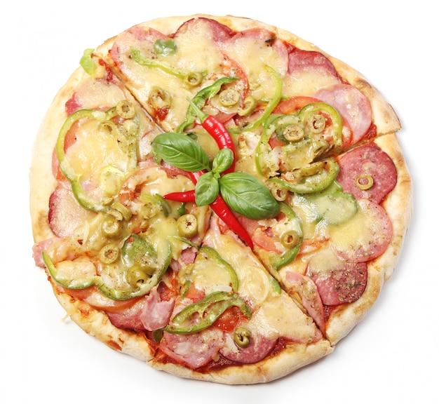 Lekkere pizza met pepperoni Gratis Foto