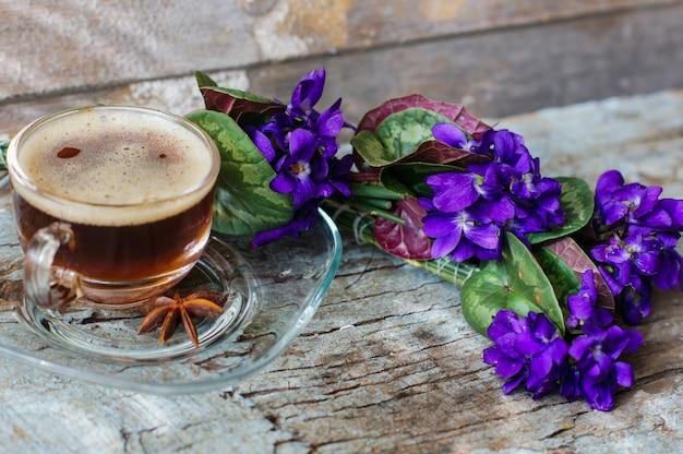Lente koffie Premium Foto