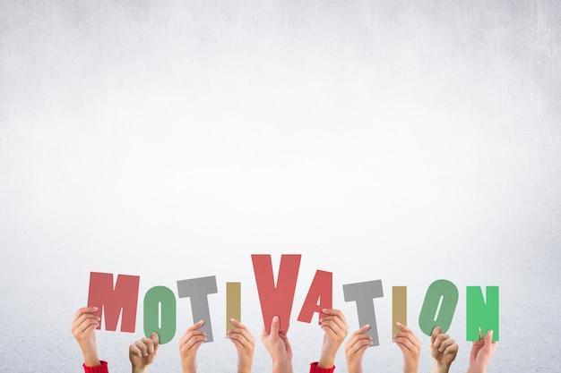 Letters die het woord motivatie Gratis Foto