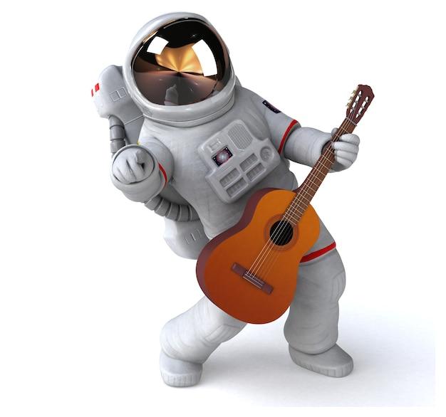 Leuke astronaut - 3d illustratie Premium Foto