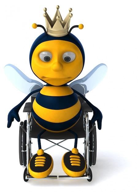 Leuke bee animatie animatie Premium Foto
