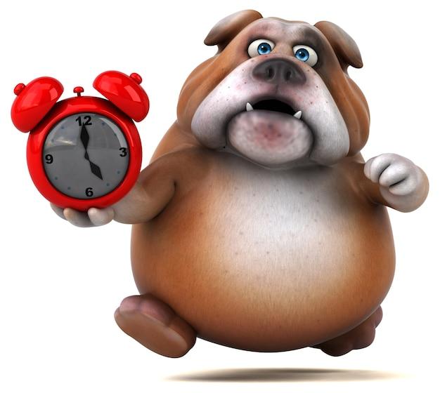 Leuke bulldog illustratie Premium Foto