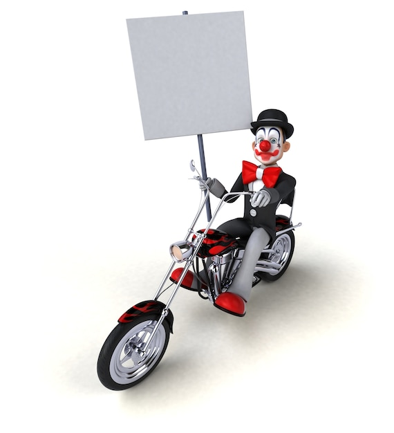 Leuke clown - 3d illustratie Premium Foto