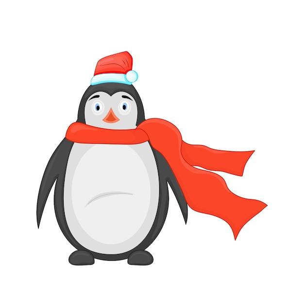 Leuke kerst pinguïn. Premium Foto
