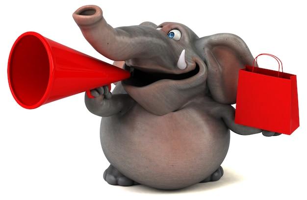 Leuke olifant illustratie Premium Foto