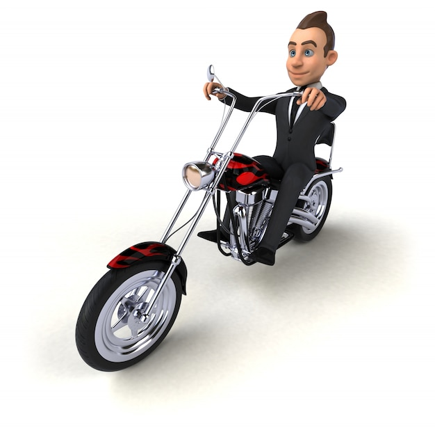 Leuke zakenman - 3d karakter Premium Foto