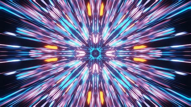 Levendig mooi abstract mandalapatroon voor achtergrond met blauwe, oranje en roze kleuren Gratis Foto