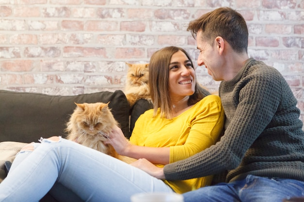 Levensstijl van mensen met huisdieren Premium Foto