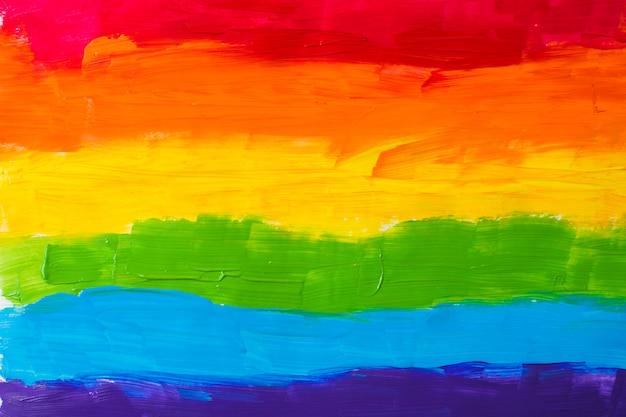Lgbt-kleuren op papier Gratis Foto