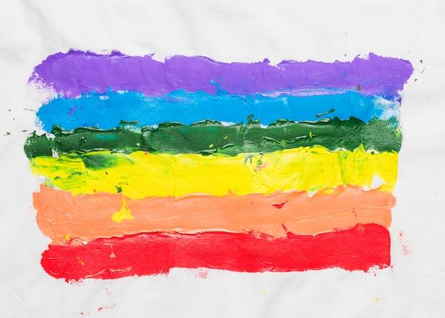 Lgbt-vlag met de hand getekend Gratis Foto