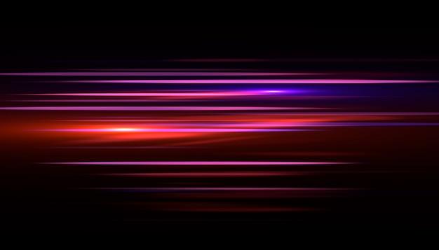 Licht streak snel effect. abstracte snelheid als achtergrond. Premium Foto