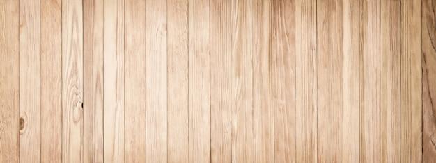 Lichte houtstructuur, panoramische achtergrond van oude planken Premium Foto