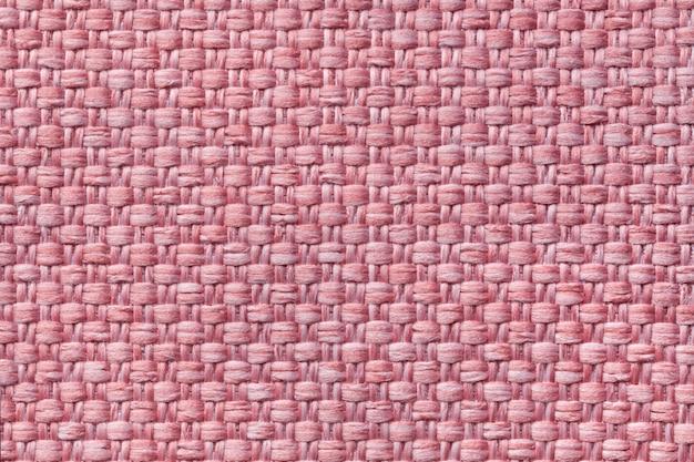 Lichtrose textielachtergrond met geruit patroon Premium Foto